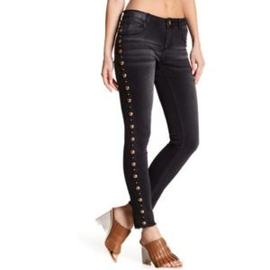 Romeo + Juliet Couture Raw Hem Studded Skinnies @